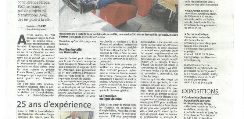 Dordogne Libre Article de presse du 07_09_18